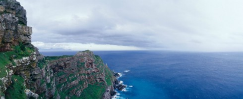 A rainstorm approaches Cape Point, the southern tip of Cape Point Peninsula