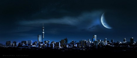 Johannesburg CBD at night