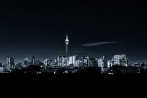 Johannesburg skyline by mitchell krog digital gallery johannesburg skyline at night telkom tower and hillbrow district thecheapjerseys Images